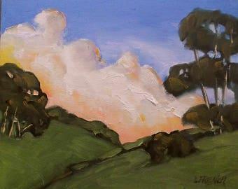 Santa Maria Impressionist Painting Plein Air Landscape California Art Lynne French o/c 8x10