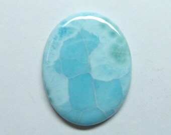 Very Pretty Natural LARIMAR Smooth Oval Shape Cabochon 31x25x3.5 MM Size Really Awesome Finest Quality