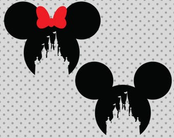 Disney castle SVG, Disney Monogram castle, Princess castle Svg, dxf, png, eps, disney castle cricut and silhouette cameo, castle svg, disney