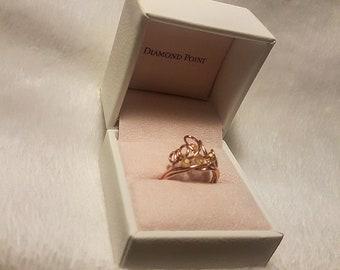 Crown ring Rose gold handmade