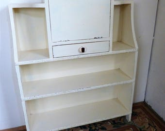 Painted Bureau Book-Shelves, 1940s Book Shelves, Old Bookcase, PICK UP ONLY!