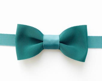 Bow tie green pine & green Peacock - wedding bowtie - man gift - handmade-