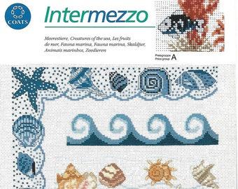 "Sheet embroidery cross stitch ""seafood"""