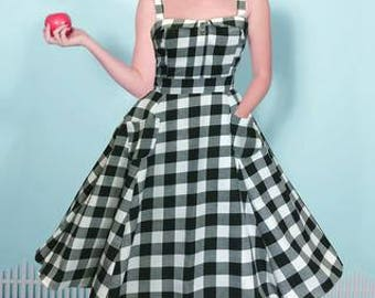 Black & White Gingham Lucy Dress