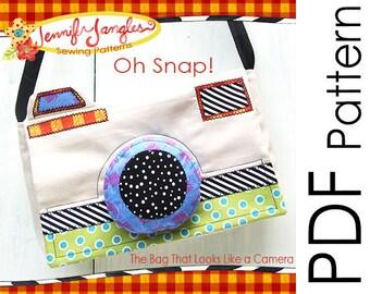 PDF Camera Purse Sewing Pattern - Oh Snap