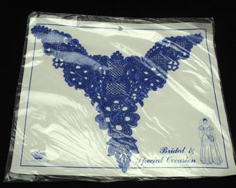 Vintage Large Blue Bridal Special Occasion Applique Clothing Sewing Decor Shabby Romantic Cottage Chic New In Package