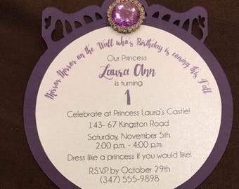 Princess mirror invite