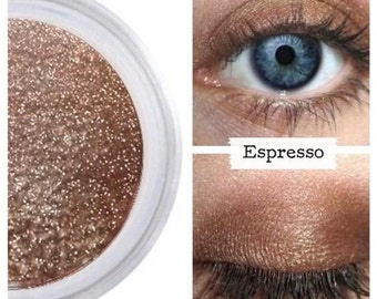 Coffee Brown Eyeshadow, Mineral Eye Color, Sophisticated, Shimmer Finish, Eyeshadow Eye Shadow, Vegan Cruelty Free, Natural Beauty, ESPRESSO