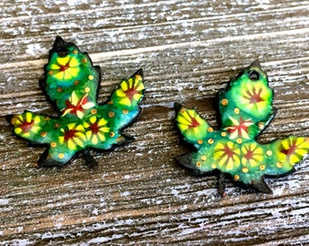 Enameled Maple Leaf Components