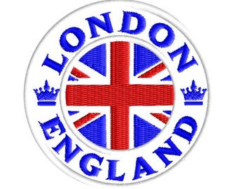 London England embroidery patch
