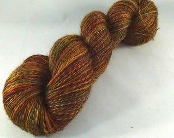 Handspun Wensleydale Wool Lace Weight Yarn - #654