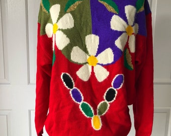 Bright flower jumper!