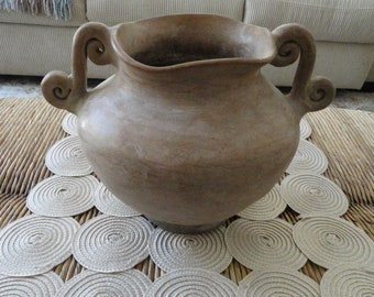 19th Century Clay Pottery Vessel, Time Keepers Attic Piece