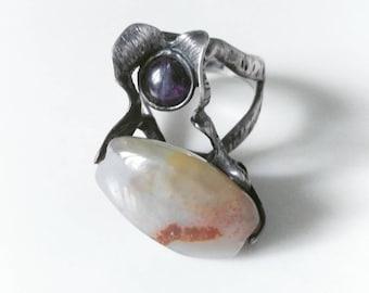 Mid Century HUGE Brutalist Ring