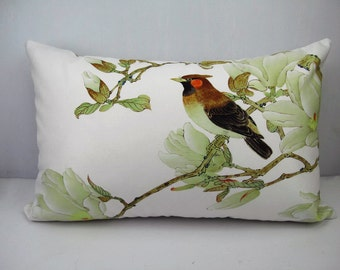 Bird pillow cover decorative  rectangle velvet throw pillow cases cushion covers  flower bird optional sizes/for car/sofa/house