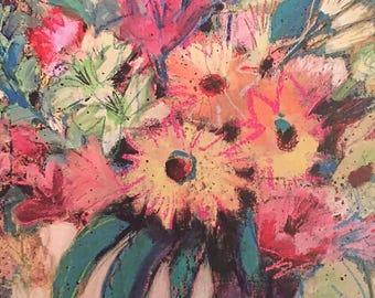 Declaration of Joy--Fine Art Greeting Card flower painting, blank greeting card, flower card, thank you card, get well card, blank card