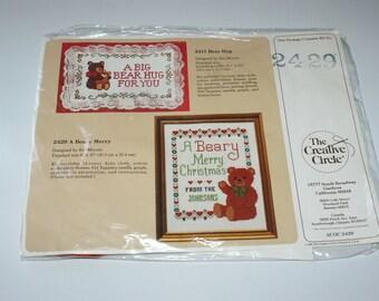 Beary Merry Christmas Counted Cross Stitch Kit by Creative Circle NIP