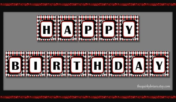 vegas casino    happy birthday banner    1920s glamour theme