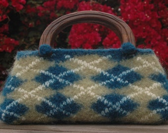 Refine School - Felted Argyle Tote Knitting Pattern (Instant PDF Download)