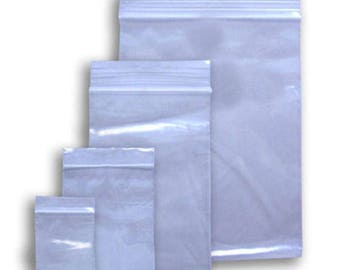 500 Ziplock Bag Assortment 2mil Clear Reclosable Bags Small Sizes FDA & USDA Approved
