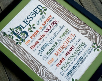 The Beatitudes | Cross-Stitch Pattern