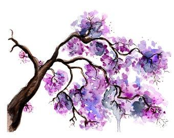 Digital Download - Watercolour fashion illustration Titled Magic of Spring