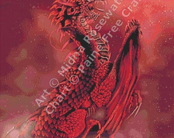 Blood Solstice - emailed PDF chart / pattern, original art © Midna Rosewater  licenced by Paine Free Crafts