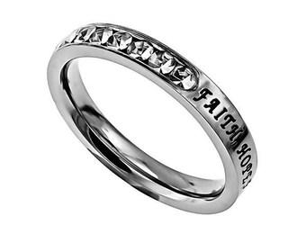 "Princess Ring ""Faith, Hope, Love"""