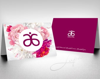 Arbonne A6 folded note card (05) – Instant Download – DIGITAL FILE