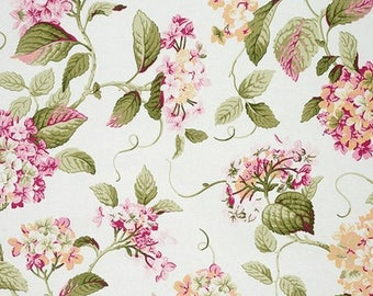 Fabric flowers, hydrangeas, retro, English style