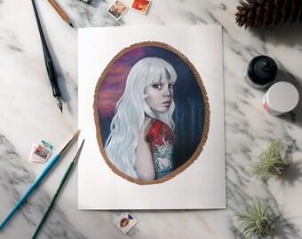 Lady Amalthea giclee art print OE