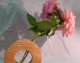 vase with water - handcrafted shooting tube