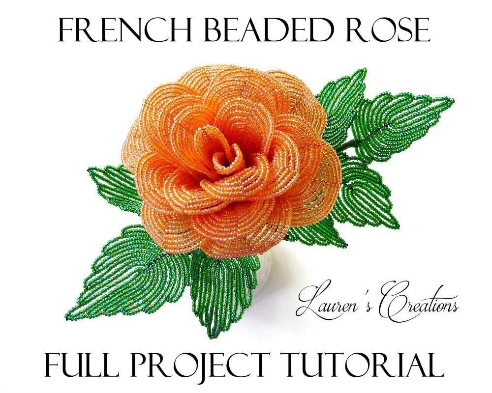 PDF Full Project Tutorial - French Beaded Rose - DIY Beading ...