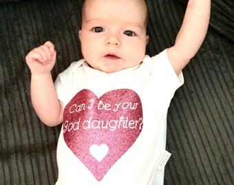 God parent gift, god daughter, god son, christening, baptism, baby top