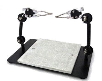Pro Quality Dual Third Hand Soldering Station With Soldering Board SALE