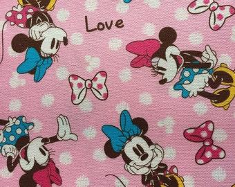 Minny  fabric Half yard pink colour