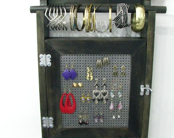 Hanging Jewelry Storage with two layers of storage