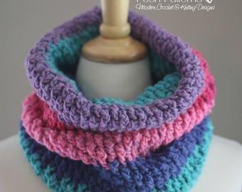 Crochet Pattern - Crochet Cowl Pattern - Crochet Infinity Scarf Pattern - Crochet Pattern Scarf - Instant Download - Caron Cakes - PDF 446