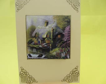 Card 3D (relief) home in pyramid water's edge