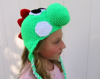 Custom Made Yoshi Inspired Hat