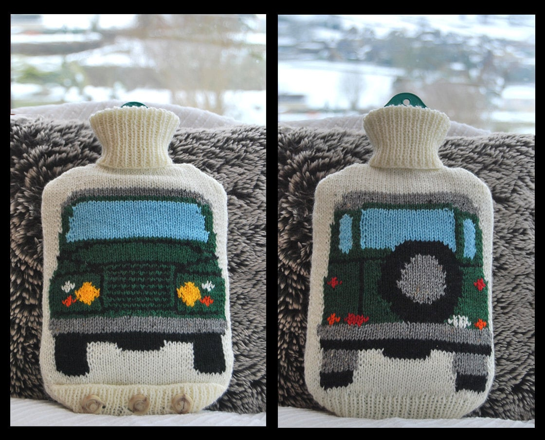 Knitting pattern knit a hot water bottle cover based on the zoom dt1010fo