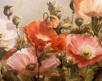 Super Giclée's of  Big flower paintings Po-pies opus V