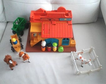 Vintage Fisher Price Little people 1982 WESTERN TOWN #934 complete near mint condition