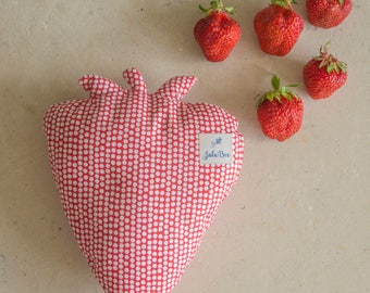 Juicy strawberry pillow