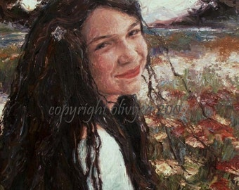 Custom Portrait Painting from your Photograph, Landscape, Original Oil Painting, Impressionistic, Fine Art by Olivyea