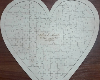 Wedding guest book puzzle, wedding puzzle, wedding accesories, custom puzzle, wedding guest book alternative