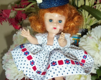 """Free Shipping/ All  Original  Vogue Stamped  7""""  1954 Red  Haired  SLW  Ginny  Doll"""