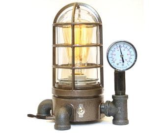 Vintage Industrial Explosion Proof Desk Lamp Steampunk Light #42 Nautical lamp