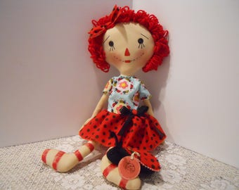 Raggedy Doll, PRIMITIVE, Lady Bug