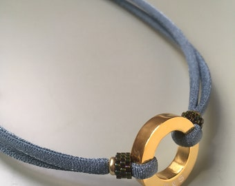 Collar RONDANA DELICA/ Plata de ley / Plata chapada en oro.